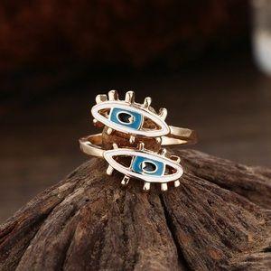 ✨RESTOCKED✨Evil eye gold ring 🧿